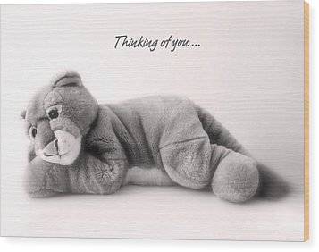 Wood Print featuring the photograph Thinking Of You by Gina Dsgn
