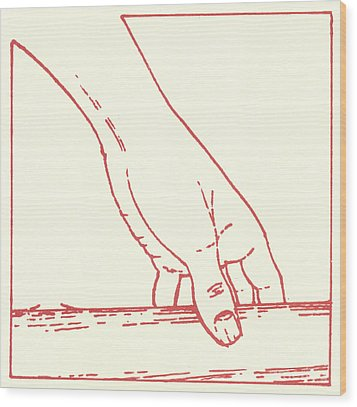 Wood Print featuring the drawing Third Station- Jesus Falls The First Time by William Hart McNichols