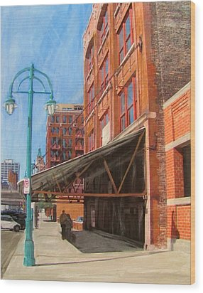 Third Ward - Broadway Awning Wood Print by Anita Burgermeister