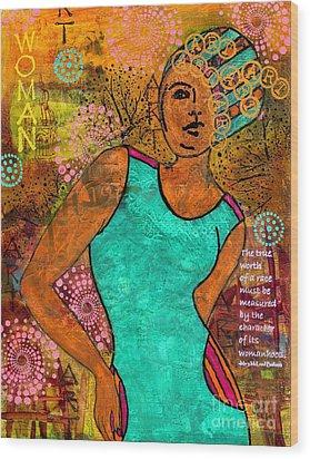 This Artist Speaks Truth Wood Print by Angela L Walker