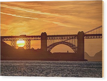 Wood Print featuring the photograph This Bridge Never Gets Old by Peter Thoeny