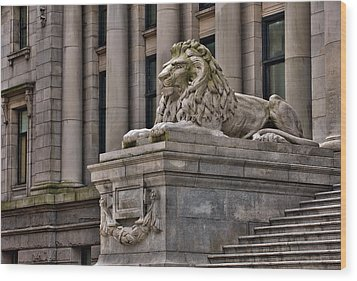 This Is British Columbia No.48 - Vancouver Art Gallery Lion Wood Print by Paul W Sharpe Aka Wizard of Wonders