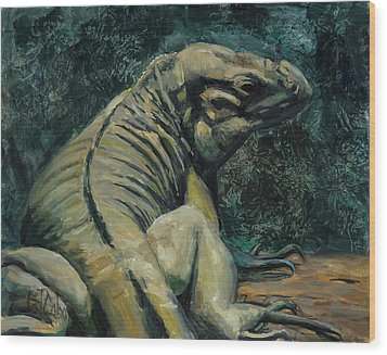 Wood Print featuring the painting This Is My Good Side by Billie Colson