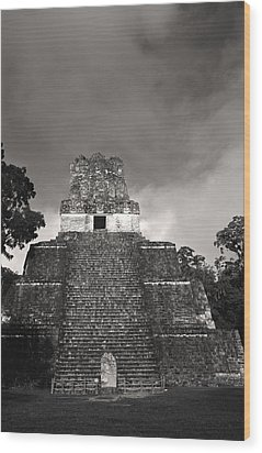This Is Temple 2 At Tikal Wood Print by Stephen Alvarez