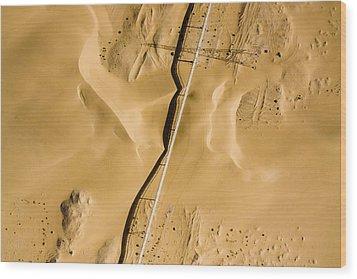 This Is The Longest Phosphate Conveyor Wood Print by Michael Fay