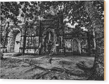 This Is The Philippines No.10 - San Juan Nepomuceno Church Wood Print by Paul W Sharpe Aka Wizard of Wonders