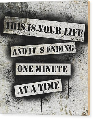 This Is Your Life - Fight Club Wood Print