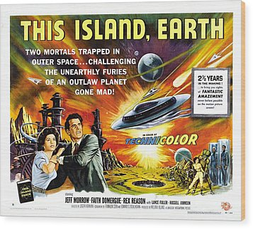 This Island Earth Science Fiction Classic Movie Wood Print