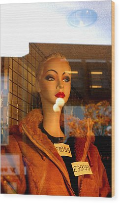 This Jacket Is Not Me Wood Print by Jez C Self