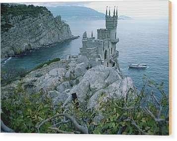 This Neo-gothic Castle Overlooks Wood Print by Steve Raymer