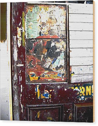 Wood Print featuring the photograph This Old Door Has Got Enough by Don Struke