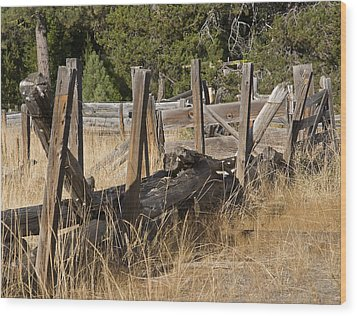 This Old Fence Wood Print by Charlie Osborn
