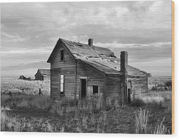 Wood Print featuring the photograph This Old House by Jim Walls PhotoArtist