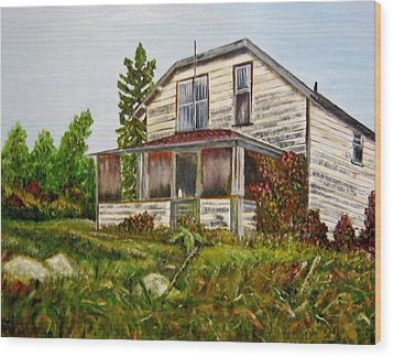 Wood Print featuring the painting This Old House by Marilyn  McNish