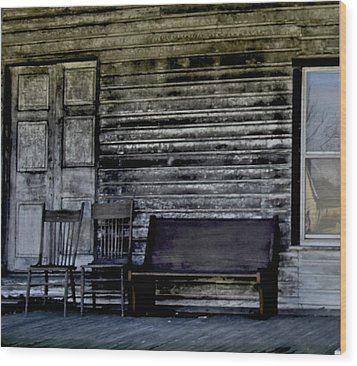 This Old Porch Wood Print