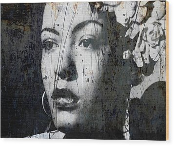 Wood Print featuring the mixed media This Ole Devil Called Love  by Paul Lovering