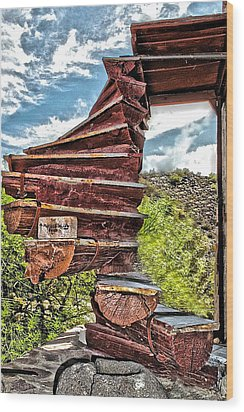 This Way Up Wood Print by Katherine Halstead