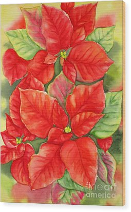 This Year's Poinsettia 1 Wood Print by Inese Poga