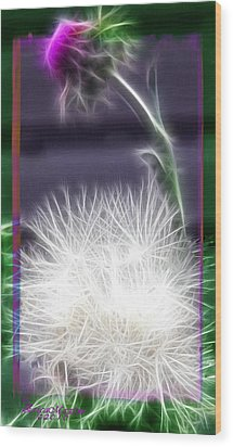 Wood Print featuring the photograph Thistle by EricaMaxine  Price