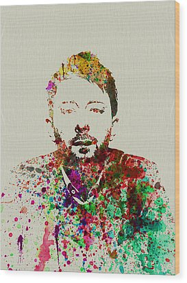 Thom Yorke Wood Print by Naxart Studio