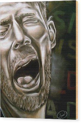Thom Yorke Wood Print by Zach Zwagil