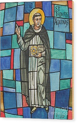 Thomas Aquinas Italian Philosopher Wood Print by Photo Researchers