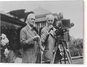 Thomas Edison 1847-1931 And George Wood Print by Everett