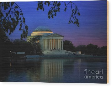 Thomas Jefferson Memorial Sunset Wood Print
