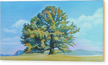 Thomas Jefferson's White Oak Tree On The Way To James Madison's For Afternoon Tea Wood Print