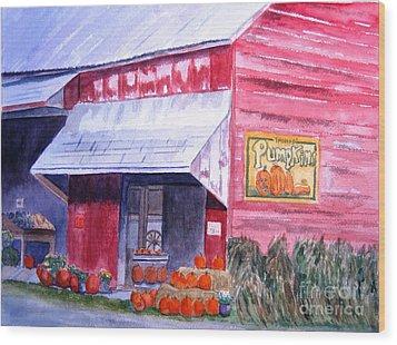 Thomas Market Wood Print by Lynne Reichhart