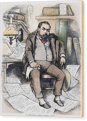 Thomas Nast (1840-1902) Wood Print by Granger