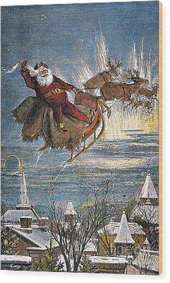 Thomas Nast: Santa Claus Wood Print by Granger