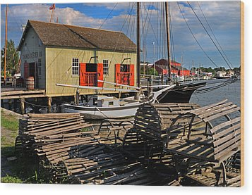 Thomas Oyster Co.- Mystic Wood Print by Thomas Schoeller