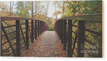 Thompson Park Bridge Stowe Vermont Wood Print