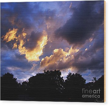Thomson Sky Wood Print