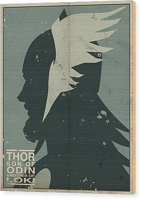 Thor Wood Print by Michael Myers