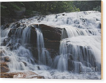 Thoreau Falls - White Mountains New Hampshire Usa Wood Print by Erin Paul Donovan