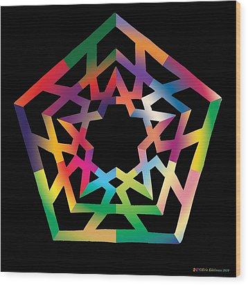 Thoreau Star Wood Print by Eric Edelman