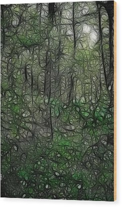 Thoreau Woods Fractal Wood Print by Lawrence Christopher