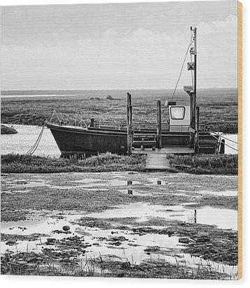Thornham Harbour, North Norfolk Wood Print by John Edwards