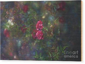 Thorns And Roses II Wood Print