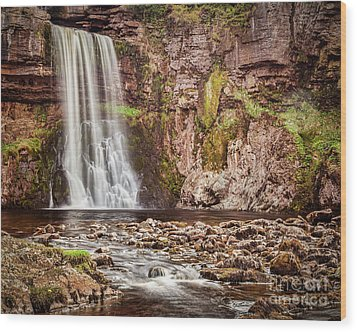 Wood Print featuring the photograph Thornton Force, Yorkshire Dales by Colin and Linda McKie