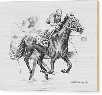 Thoroughbred Best Pal Wood Print by Arline Wagner