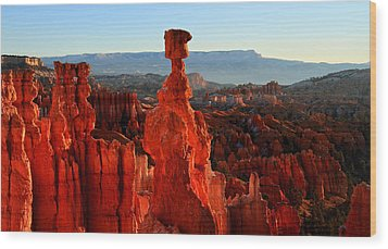 Thor's Hammer In Bryce Canyon At Sunrise Wood Print by Pierre Leclerc Photography