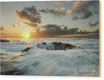 Wood Print featuring the photograph Thors Well Cape Perpetua 1 by Bob Christopher