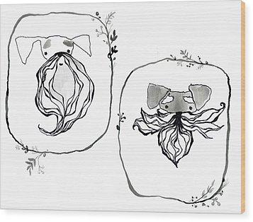 Those Guys Wood Print by Arleana Holtzmann