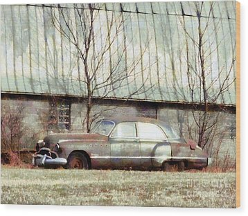 Wood Print featuring the photograph Those Were The Days - 49 Buick Roadmaster by Janine Riley