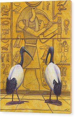 Thoth Wood Print by Catherine G McElroy