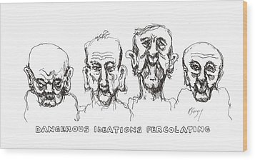 Wood Print featuring the drawing Thought Process by R  Allen Swezey