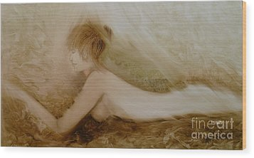 Thoughtful Wood Print by Fatima Stamato